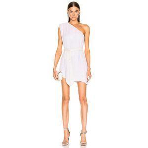retrofete Ella Paillette Sequin Velvet Belt Dress